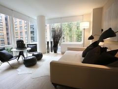Thumbnail of Gotham West: 423 a living room filled with furniture and a large window