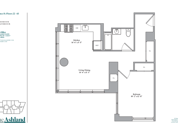 The Ashland #28D Floorplan
