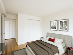 Thumbnail of Atlas New York: 24C a bedroom with a bed and desk in a room