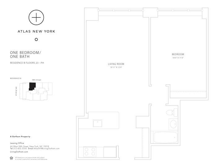Atlas New York #27B Floorplan
