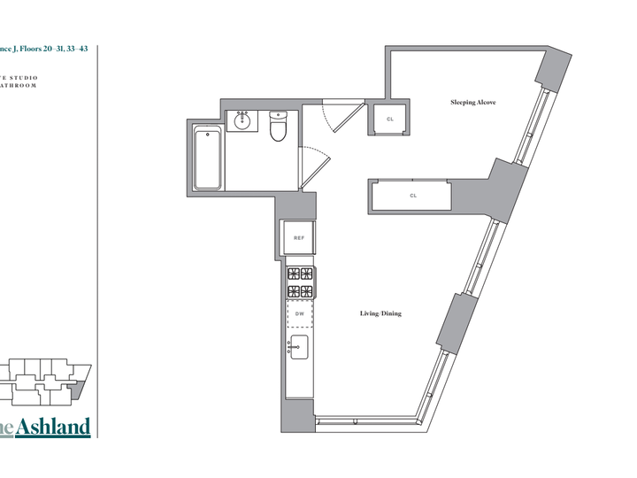 The Ashland #27J Floorplan