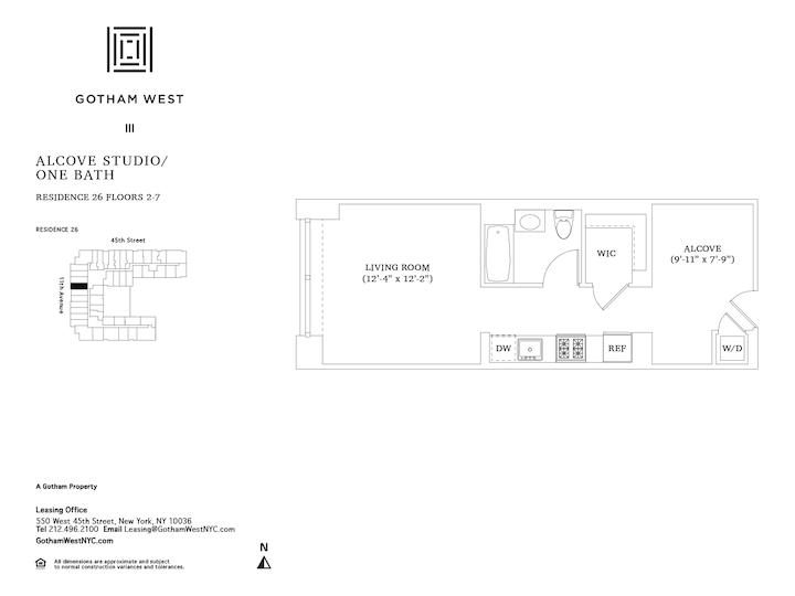 Gotham West #626 Floorplan