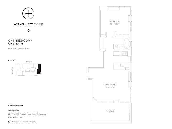Atlas New York #6K Floorplan