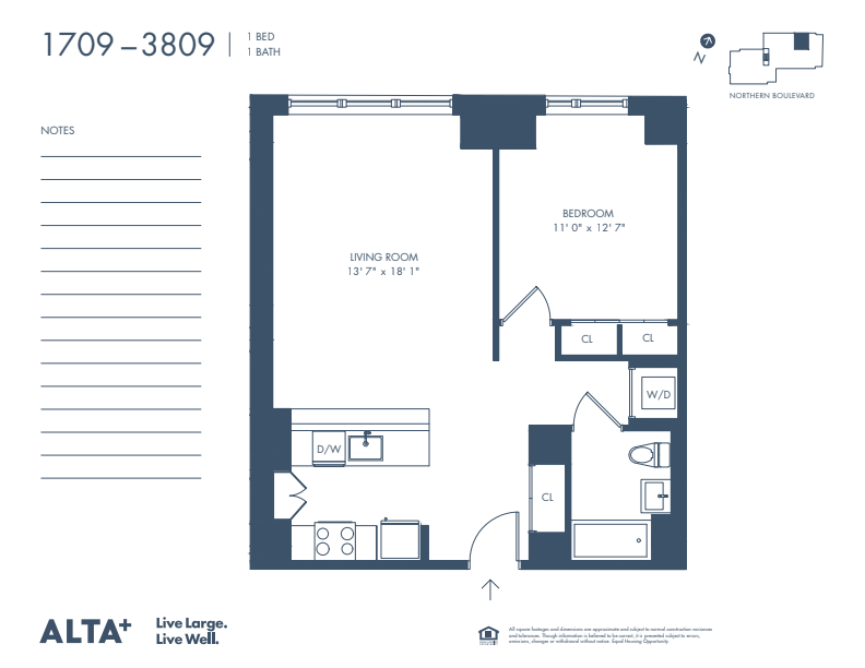 Floorplan of Unit #2709
