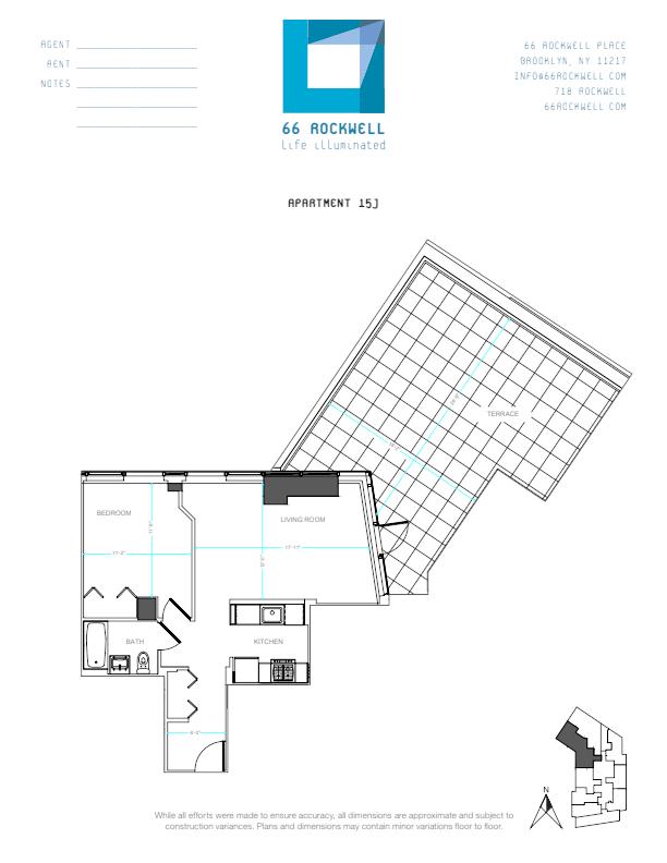 Floor plan for 15J