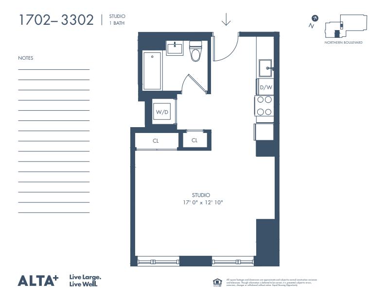 Floorplan of Unit #2902