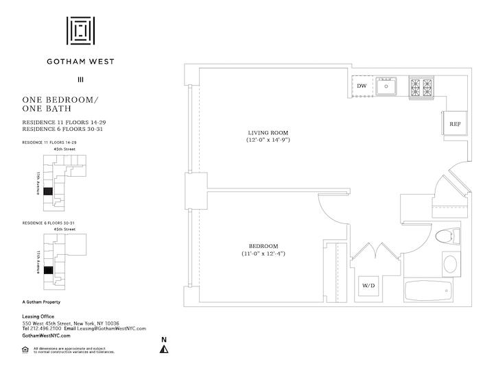 Gotham West #2111 Floorplan