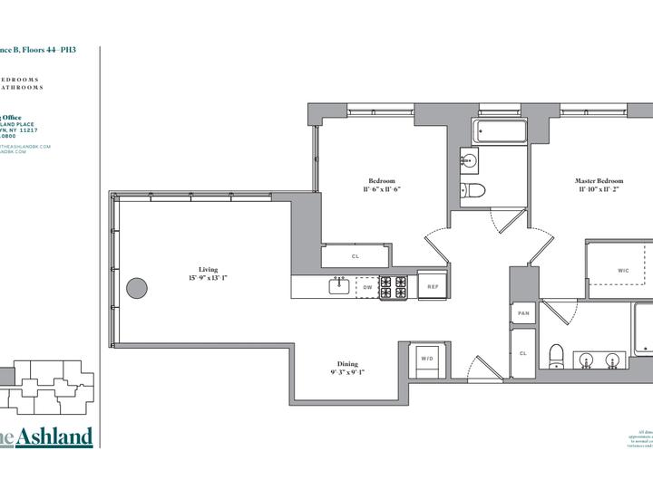 The Ashland #PH2B Floorplan