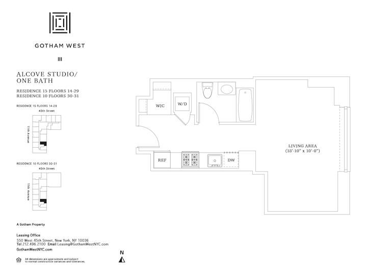 Gotham West #2415 Floorplan
