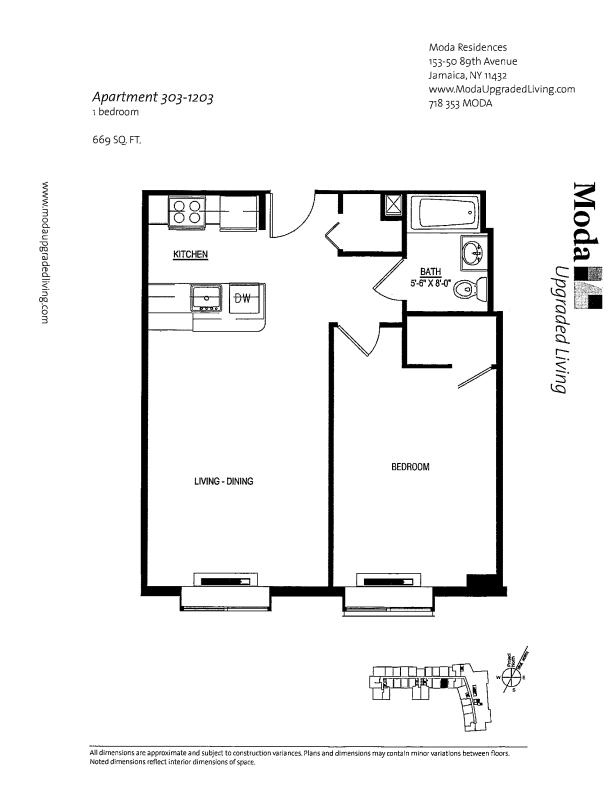 Floor plan for 603