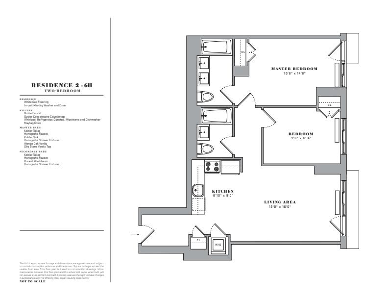 Floor plan for 4H