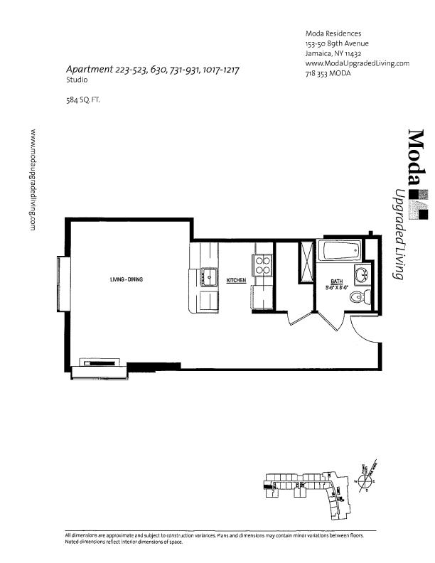 Floor plan for 831