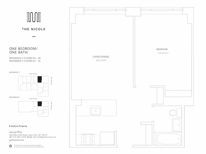 The Nicole #6F Floorplan