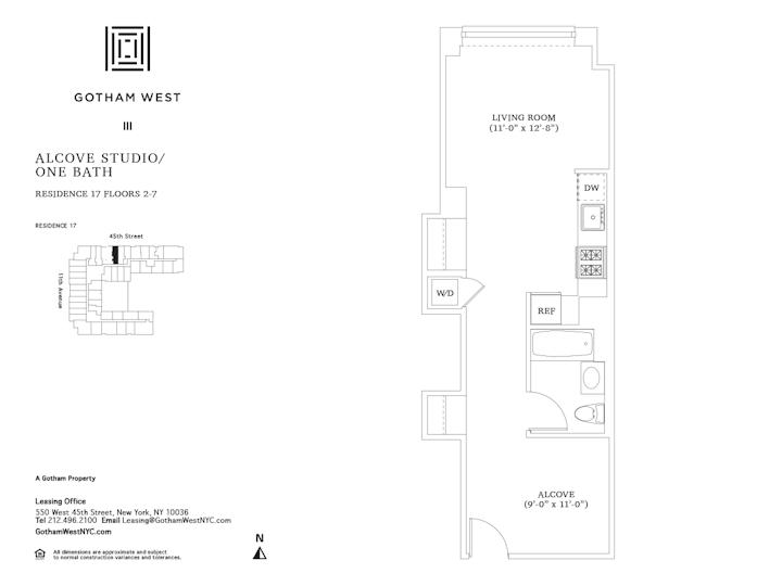 Gotham West #717 Floorplan