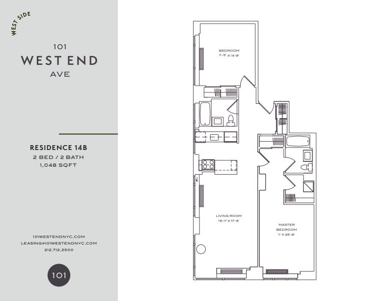 Floor plan for 9B