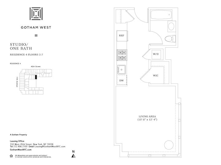 Gotham West #404 Floorplan