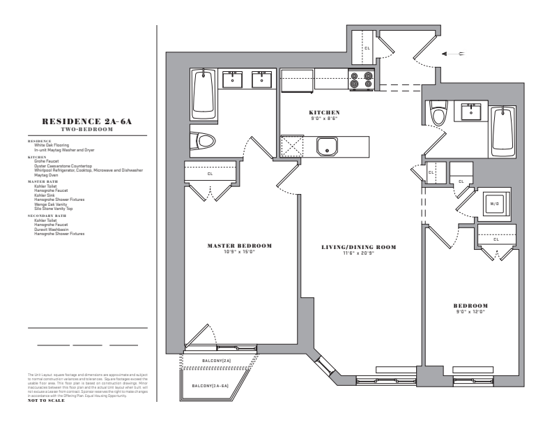 Floor plan for 2A