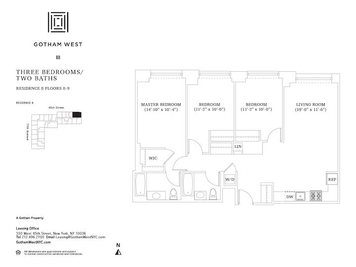 Gotham West #908 Floorplan