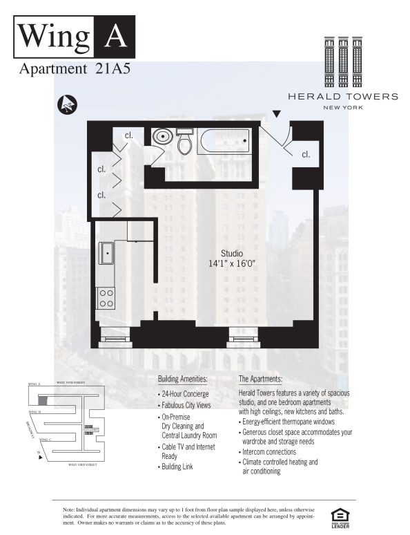 Floor plan for 21A05