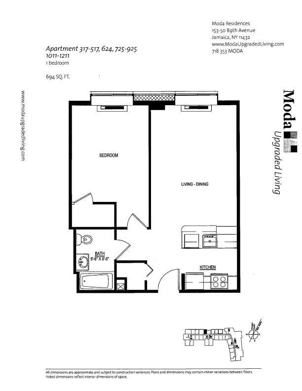 Floor plan for 624