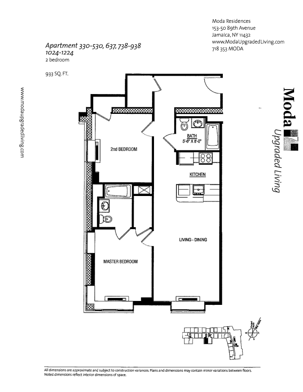 Floor plan for 1124