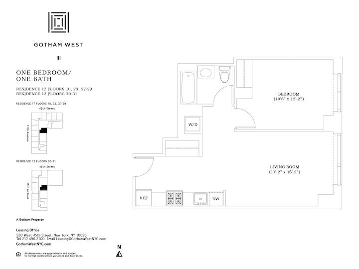 Gotham West #PH112 Floorplan