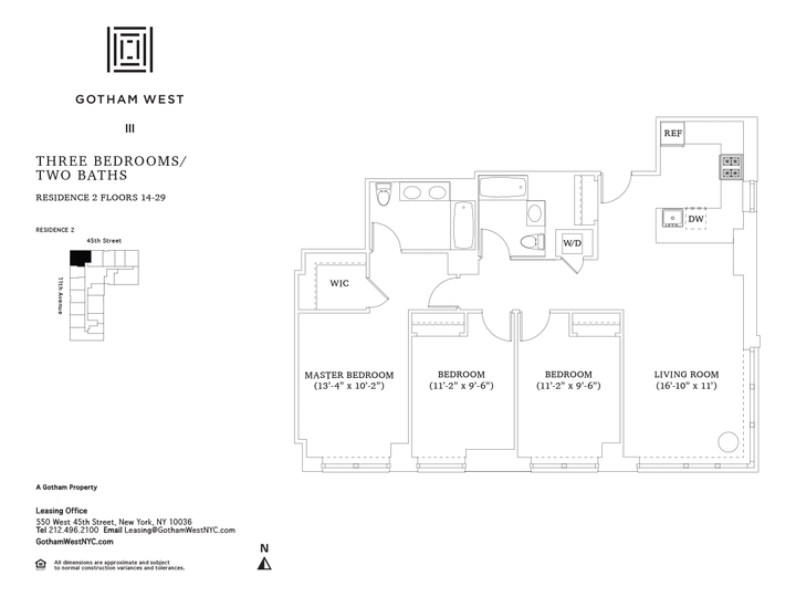 Gotham West #1502 Floorplan