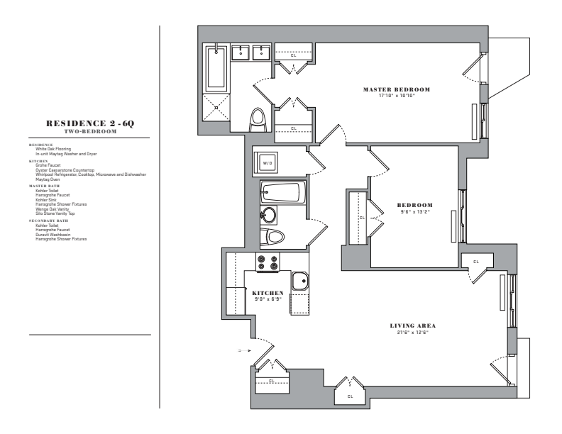Floor plan for 6Q