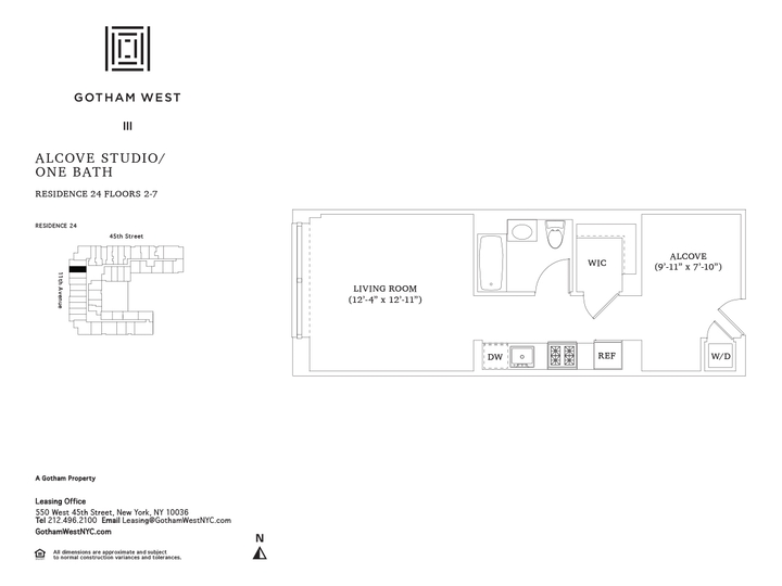 Gotham West #324 Floorplan