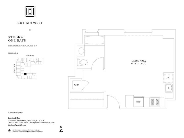 Gotham West #542 Floorplan