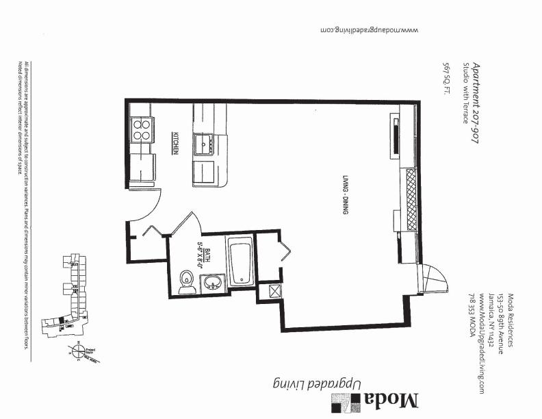 Floor plan for 807