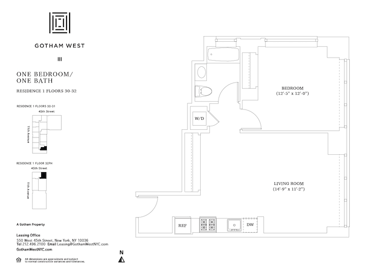 Gotham West #PH201 Floorplan