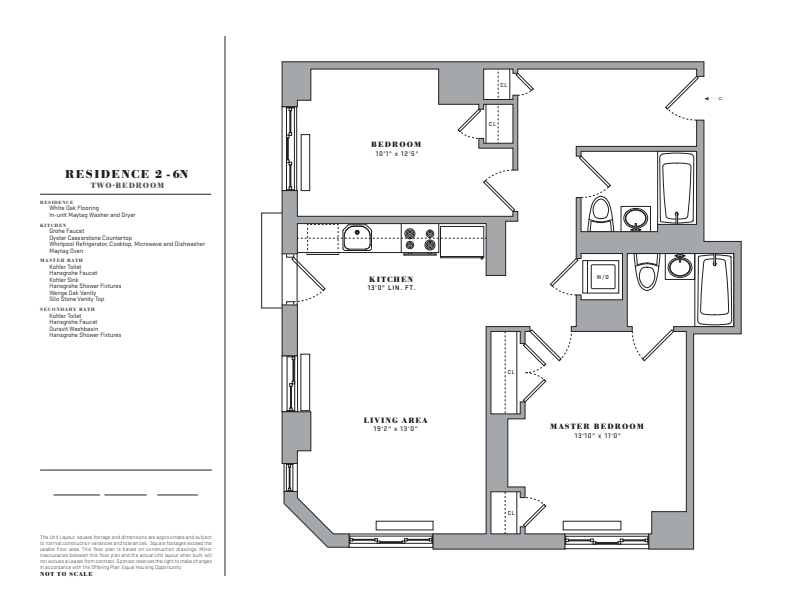 Floor plan for 3N