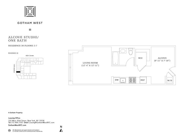Gotham West #230 Floorplan