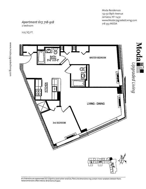 Floor plan for 818