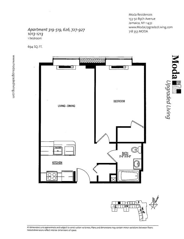 Floor plan for 626