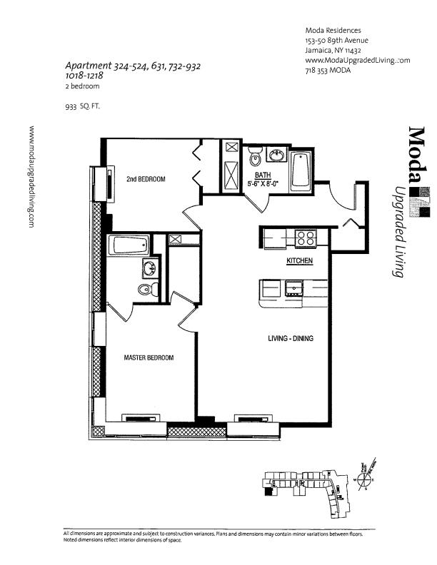 Floor plan for 732