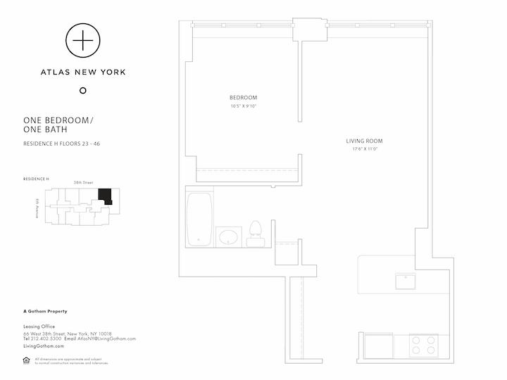 Atlas New York #43H Floorplan
