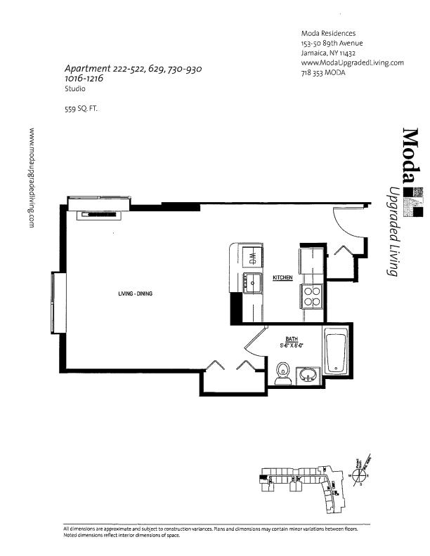 Floor plan for 422