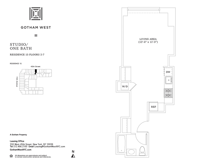 Gotham West #415 Floorplan