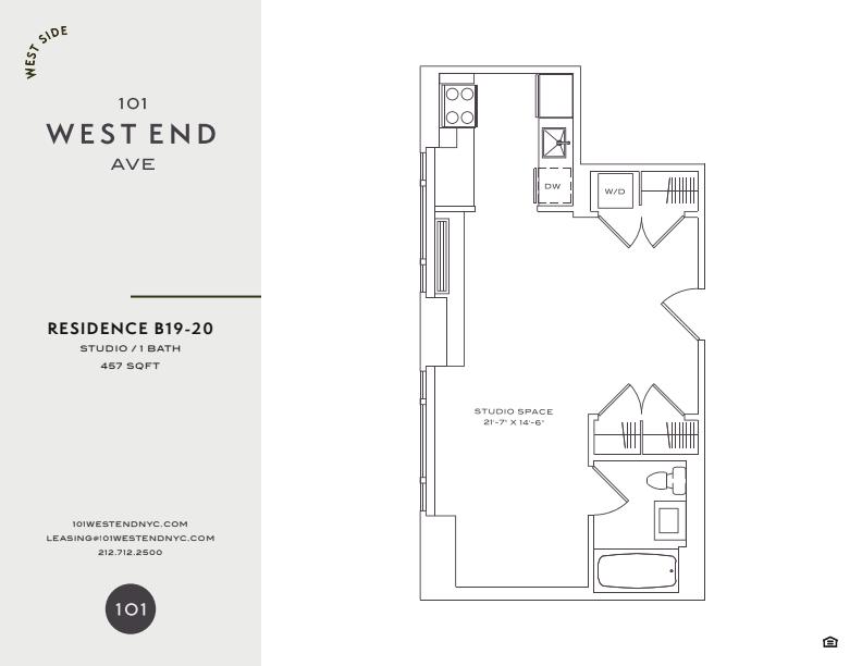 Floor plan for 19B