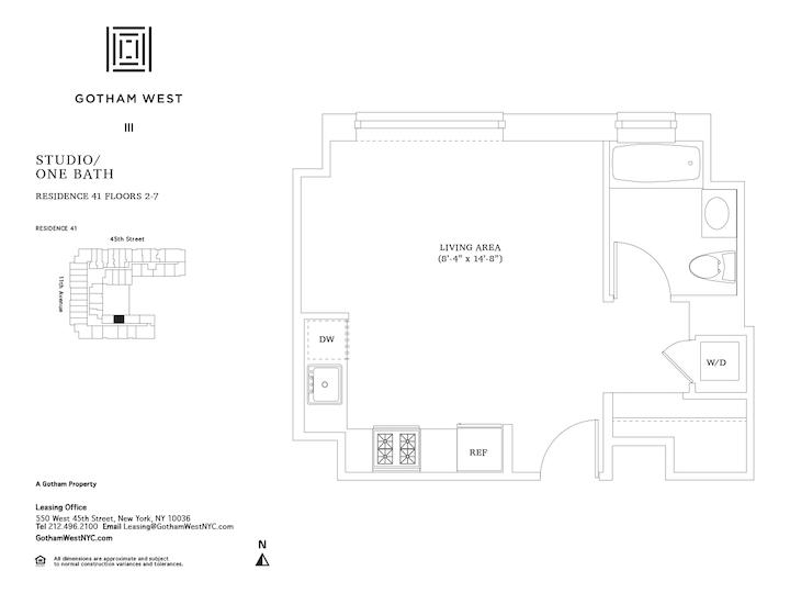 Gotham West #641 Floorplan