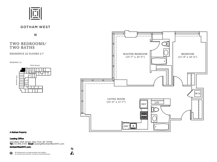 Gotham West #322 Floorplan