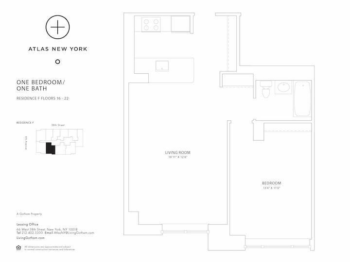 Atlas New York #16F Floorplan