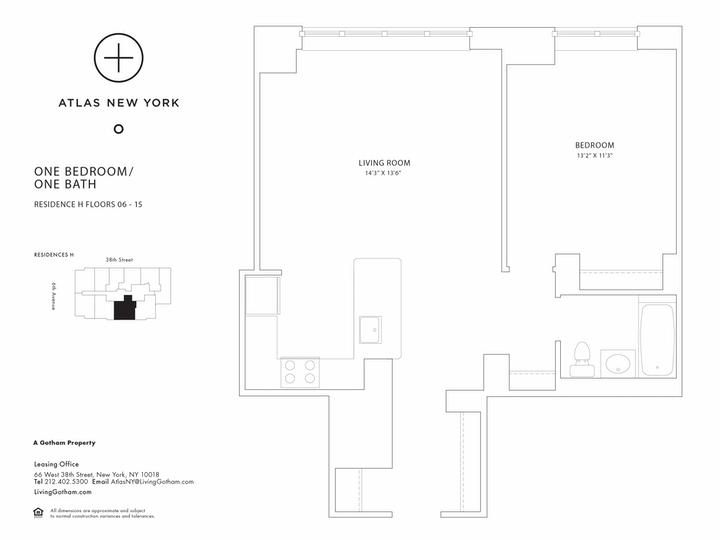 Atlas New York #11H Floorplan