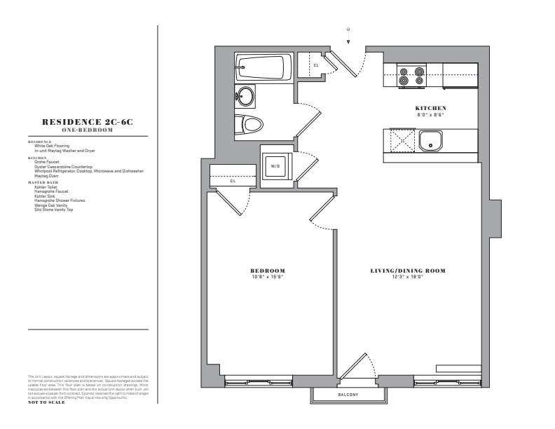 Floor plan for 2C