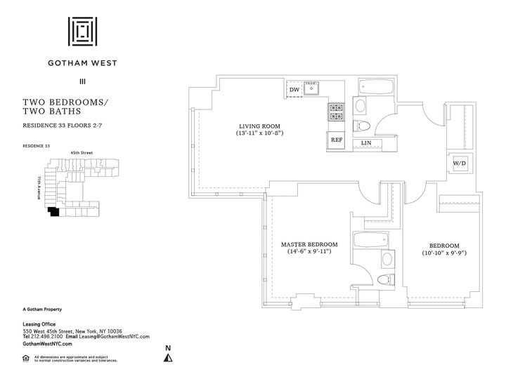 Gotham West #333 Floorplan