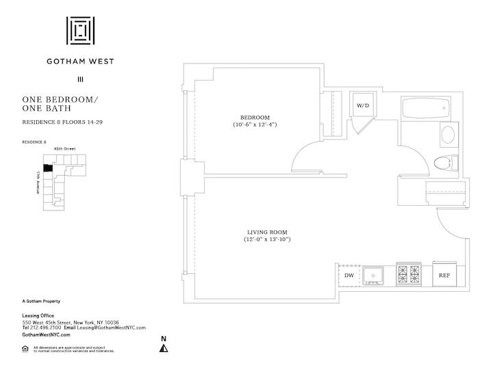 Gotham West #2808 Floorplan