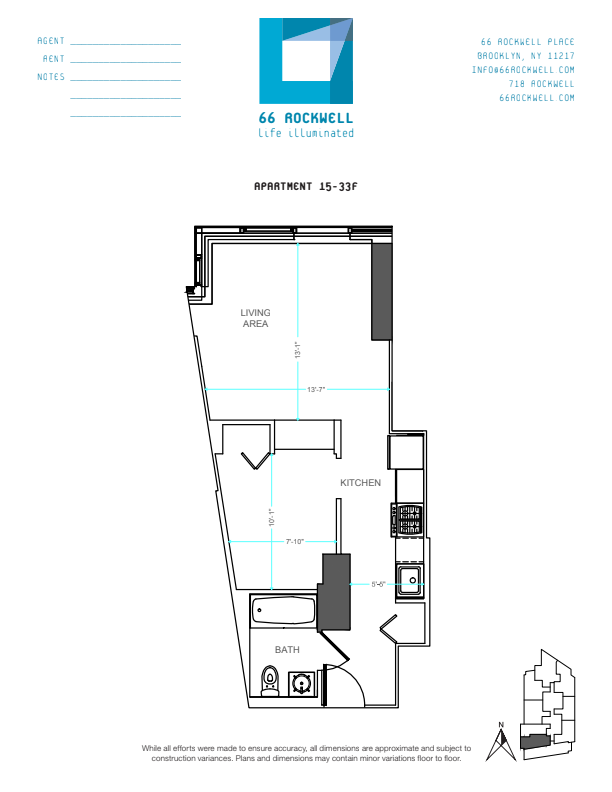 Floor plan for 30F
