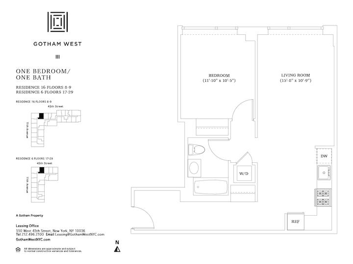 Gotham West #1906 Floorplan